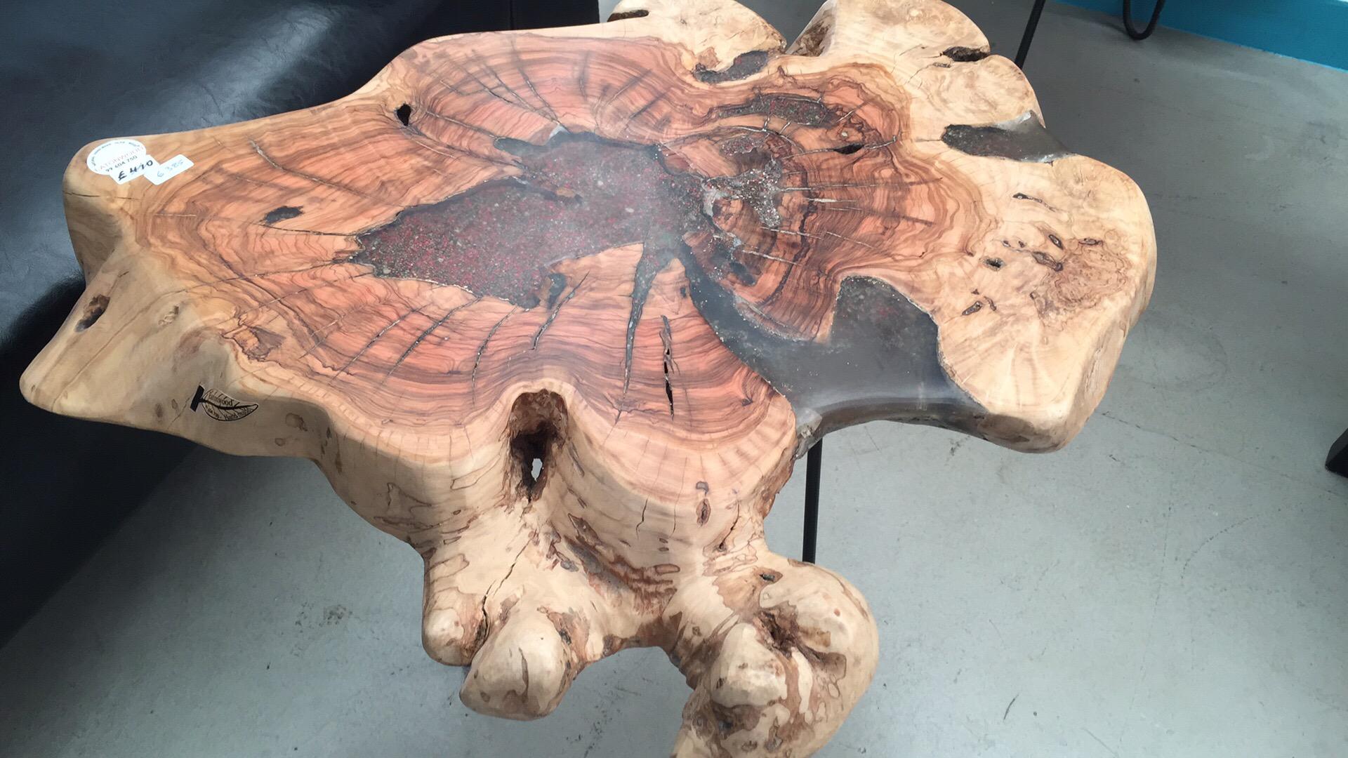 Live Edge Olive Wood Coffee Table Eatonwood