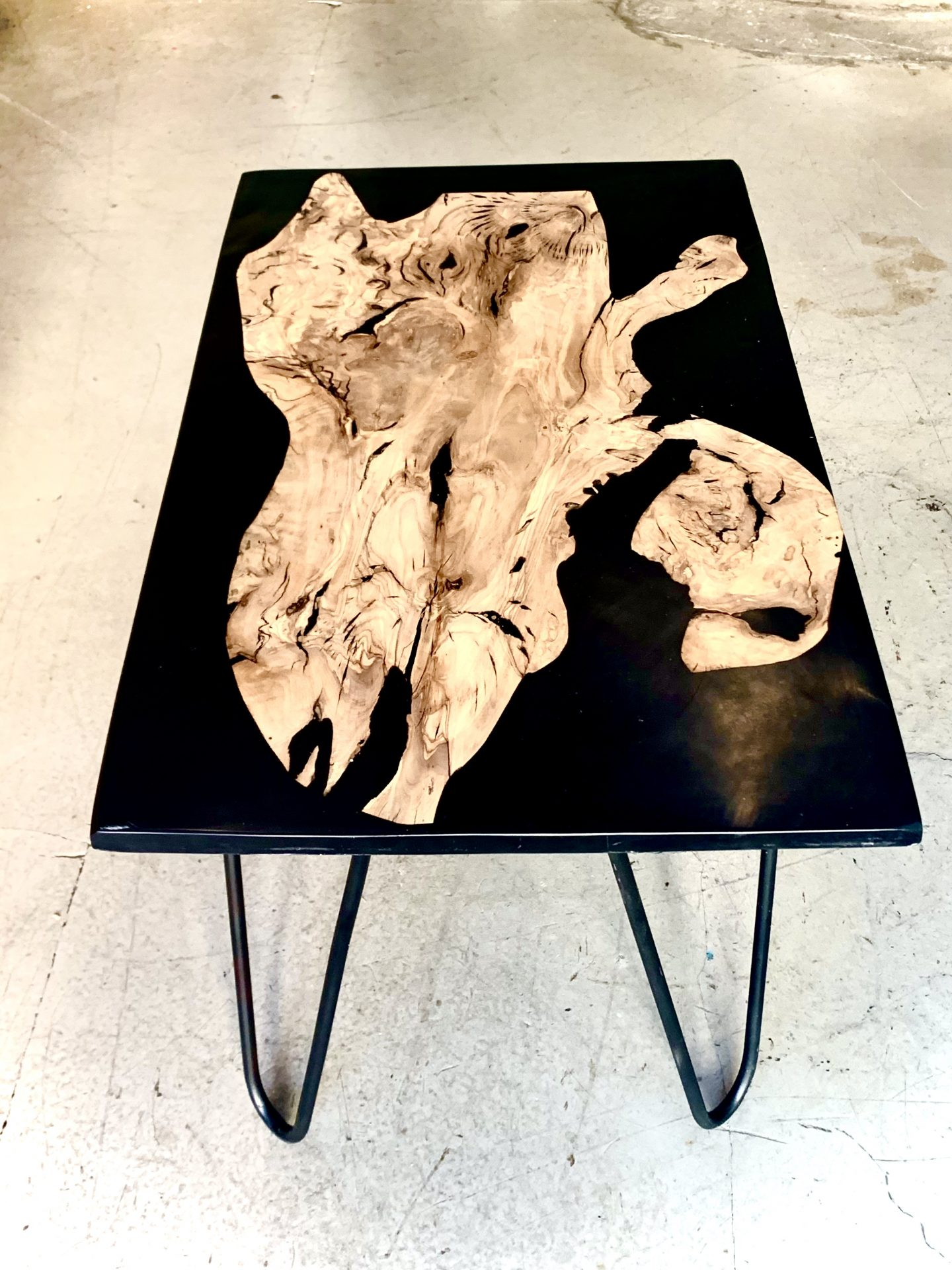 Picture of: Olive Wood Epoxy Table Eatonwood